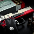 Red High Capacity 45 acp Built by Dave Pruitt