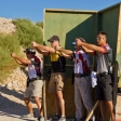 USPSA Nationals Getting a sight picture on the swinger with the guys